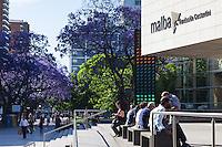 MUSEO DE ARTE MODERNO MALBA, ARBOLES DE JACARANDA FLORECIDOS, BARRIO DE PALERMO, CIUDAD DE BUENOS AIRES, ARGENTINA (PHOTO © MARCO GUOLI - ALL RIGHTS RESERVED)