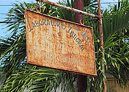 Faded sign in Hershey, Mayabeque, Cuba.