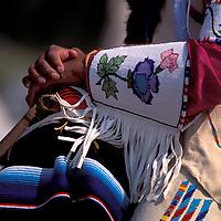 Native Americans, Crow horseback rider , Crow Fair, Crow Agency, Crow Indian Reservation, Montana, USA