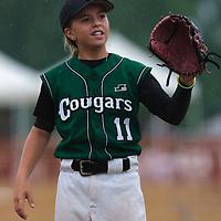 03 July 2010: Melissa Mayeux, Cougars Montigny little league, championnat Minimes, Ronchin, France.