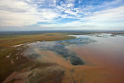 Flooding fills inland lakes near King Sound on the lower Dampier Peninsula