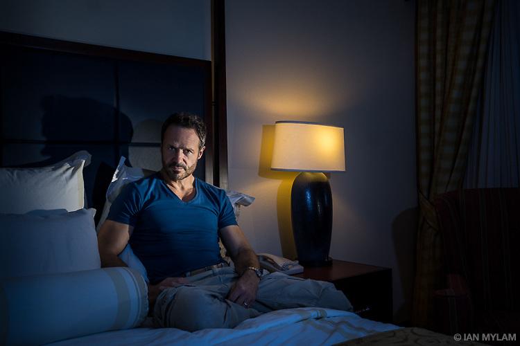 Self=portrait in a hotel room, Houston, Texas, 2013