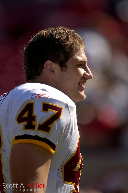 Nov. 19, 2006; Tampa, FL, USA; Washington Redskins tight end Chris Cooley prior to the Redskins game against the Tampa Bay Buccaneers at Raymond James Stadium. ...©2006 Scott A. Miller