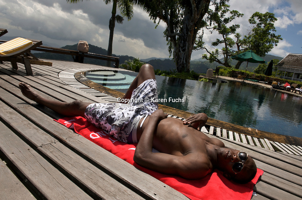 UsainBolt in Strawberry Hill above Kingston, Jamaica June 2008