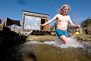 David Pagan Butler has made his own natural swimming pool at his Saxthorpe home and he has also made his own manual to tell people how to do their own. <br /> <br /> Picture: MARK BULLIMORE