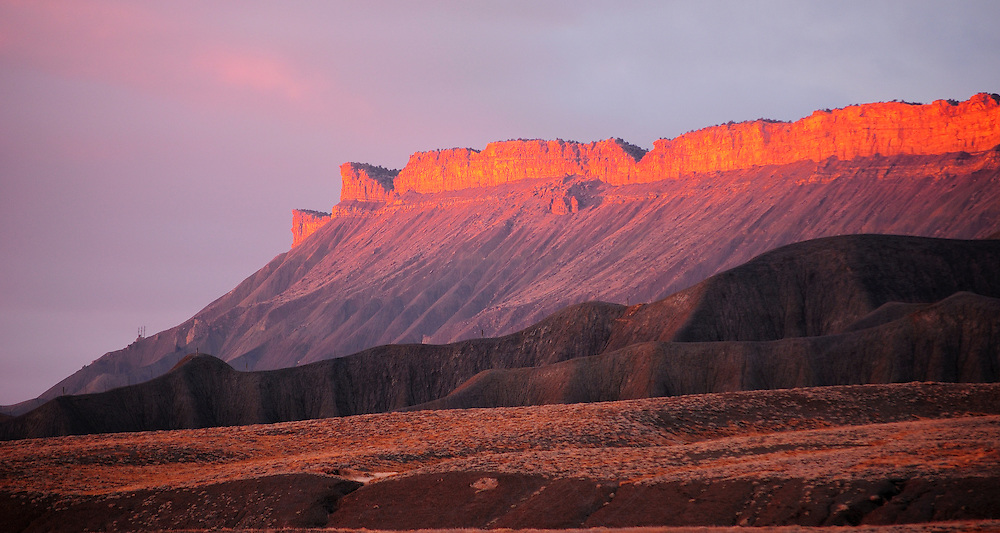 Book Cliffs Grand Junction Book Cliffs at Sunset Grand