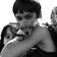 Kids with Chihuahua
