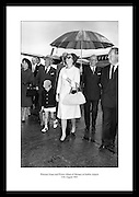 Royal family of Monaco state visit to Ireland in 1963. Image shows Princess Grace and her son Prince Albert at Dublin Airport.