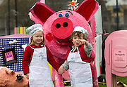 2/3/2011.no charge for media reproduction..Mucking Around.Pictured at the Pig Fair at the Launch of the Waterford Festival of Food, Dungarvan in Dungarvan County Waterford yesterday were Anna Flynn aged 4 and Tom Lynch aged 4..The Festival runs from the 15th to the 17th of April 2011..Picture Dylan Vaughan.....