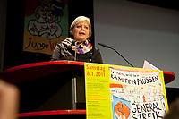 08 JAN 2011, BERLIN/GERMANY:<br /> Gesine Loetzsch, Die Linke Parteivorsitzende, haelt eine Rede, 16. Internationale Rosa-Luxenburg-Konferenz, Urania Haus<br /> IMAGE: 20110108-01-016<br /> KEYWORDS: Kommunismus, Gesine L&ouml;tzsch