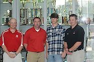 Lafayette High baseball player Tyler Mize signs to play with Mississippi Delta Community College, in Oxford, Miss. on Thursday, February 23, 2012.