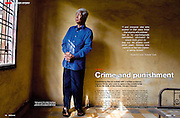 Tearsheet from portrait features and portrait assignments and corporate work..South East Globe : Cambodia trial , Vann Nath page 1/2..© Daniele Mattioli / Anzenberger
