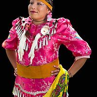 Amanda J.Franks,Blackfeet,Pow Wow Dancer,Warm Springs Pow Wow,Oregon,USA.(Model release 0097)