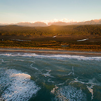 Gillespies Beach and the Southern Alps, New Zealand