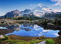 Mt. Baker Wilderness Area, Reflection, Easton Glacier, Mt. Baker; Park Butte; Railroad Grade; South Side; North Cascades; Washington State