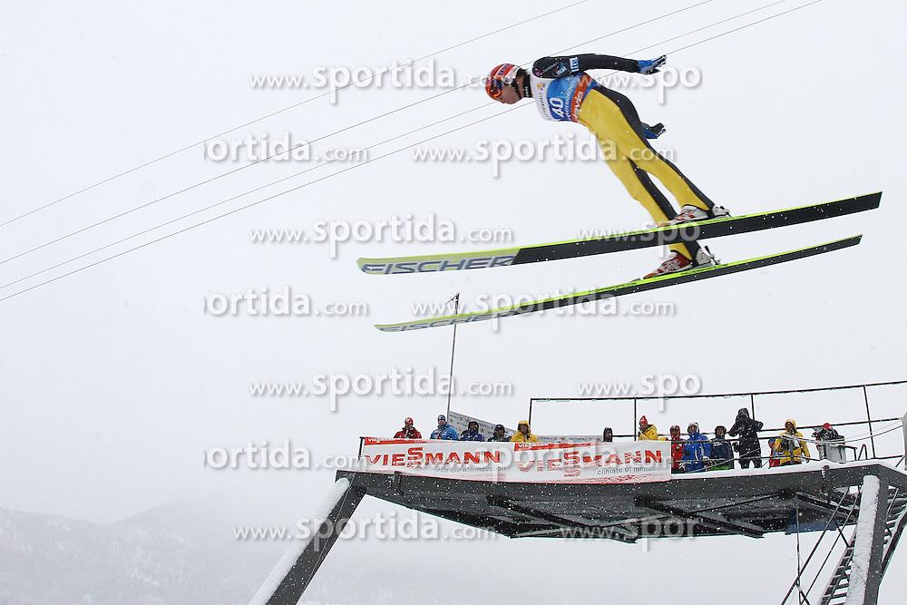 31.12.2011, Olympia Skisprungschanze, Garmisch Partenkirchen, GER, 60. Vierschanzentournee, FIS Ski Sprung Weltcup, Training, im Bild Janne HAPPONEN (FIN) // Janne HAPPONEN (FIN) during a practice session of 60th Four-Hills-Tournament FIS World Cup Ski Jumping at Olympia Skisprungschanze, Garmisch Partenkirchen, Germany on 2011/12/31. EXPA Pictures © 2011, PhotoCredit: EXPA/ Sven Kiesewetter