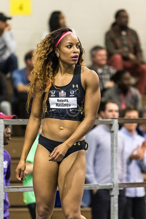 USATF Indoor Track & Field Championships: womens 300 Natasha Hastings ...