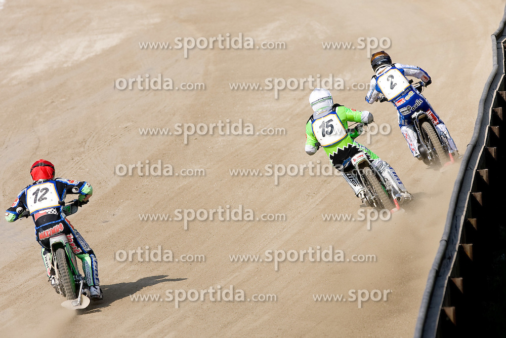 Beno Lipnik, Maks Gregoric and Jurica Pavlic at Speedway Slovenian National Championships race, on April 17, 2010, in Sportni park Ilirija, Ljubljana, Slovenia. (Photo by Vid Ponikvar / Sportida)
