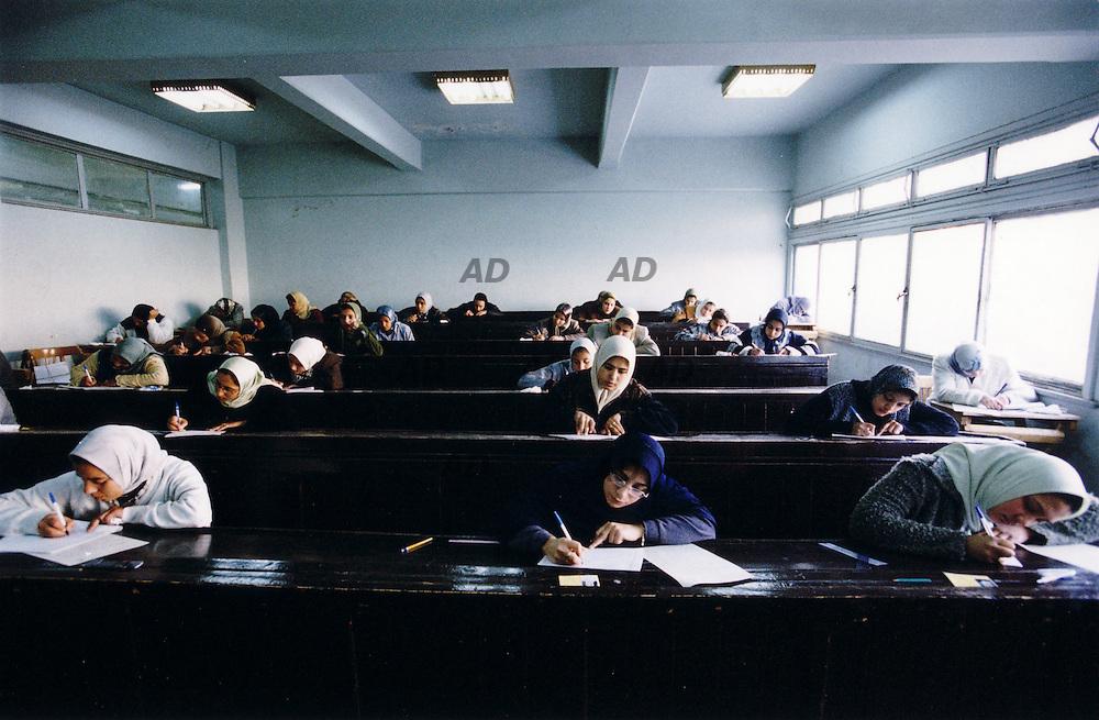The new Al Azhar university, examinations at famale side.