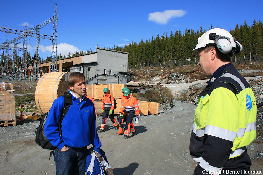 Nea Hydropower plant, Tydal in Norway. Building new connection to/from Sweden (Järpestrømmen). Nea kraftverk