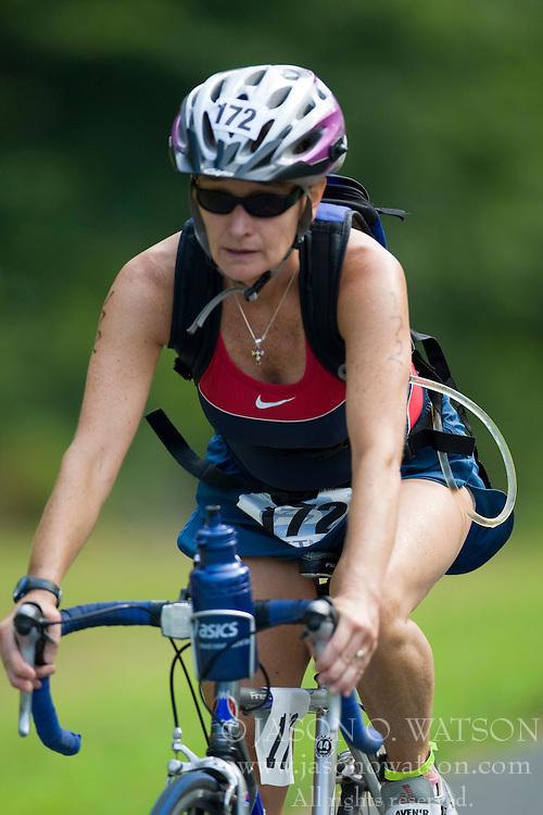 CHARLOTTESVILLE, VA - July 27, 2008 - CHERYL THORPE in The 2008 Charlottesville International Triathlon was held at Walnut Creek Park in Albemarle County near Charlottesville, Virginia, USA.