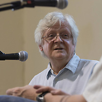 Barry Miles<br /> On stage at the Stoke Newington Literary Festival. 8 June 2014<br /> <br /> <br /> Picture by David X Green/Writer Pictures