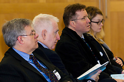 Portcullis House, Westminster, London, January 14th 2014. Members of the Residential Landlords Association attend the launch of their Policy Manifesto and hear views from MPs. PICTURED: Members of the audience listen to speakers.