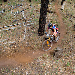The smooth singletrack of the Zuni Mountains made for fast laps.