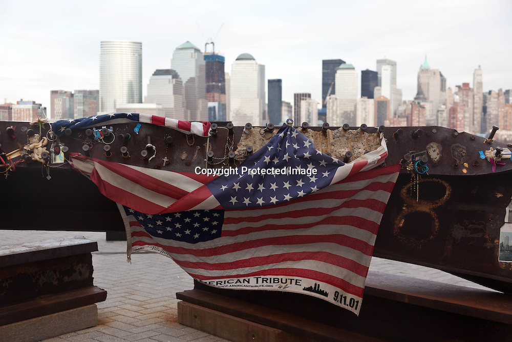 New York , 9/11 memorial in New jersey exchange square. tfollowing the September 11, 2001 attacks on he World Trade Center