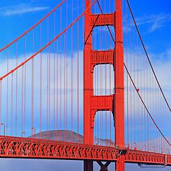 Fog over Sausalito, Golden Gate Bridge, San Francisco, California