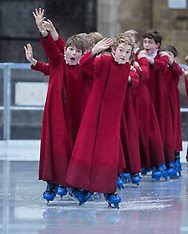 DEC 18 2014  Boy Choristers of Winchester Cathedral skating on ice