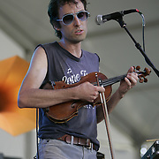 June 16, 2006; Manchester, TN.  2006 Bonnaroo Music Festival. Andrew Bird performs at Bonnaroo 2006.  Photo by Bryan Rinnert