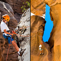 Canyoneering near Zion National Park Utah