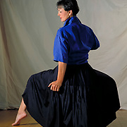 Cynthia Corn strikes a pose for a Hall of Fame portrait that will mark her place in history as the Drill Team Instructor for the Channelview High School's Channelettes. Channelview is the only drill team, high school or college, to have four directors or choreographers in the hall of fame.