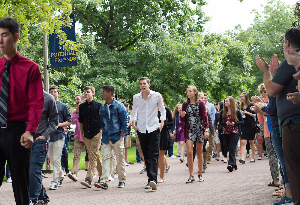 Academic Convocation for the class of 2019 took place at 10:00 a.m. in St. Al's. This is the largest freshman class that Gonzaga has ever had, clocking in at 1,345 students. (Photo by Libby Kamrowski)