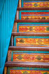 Steps. Santa Fe, New Mexico.