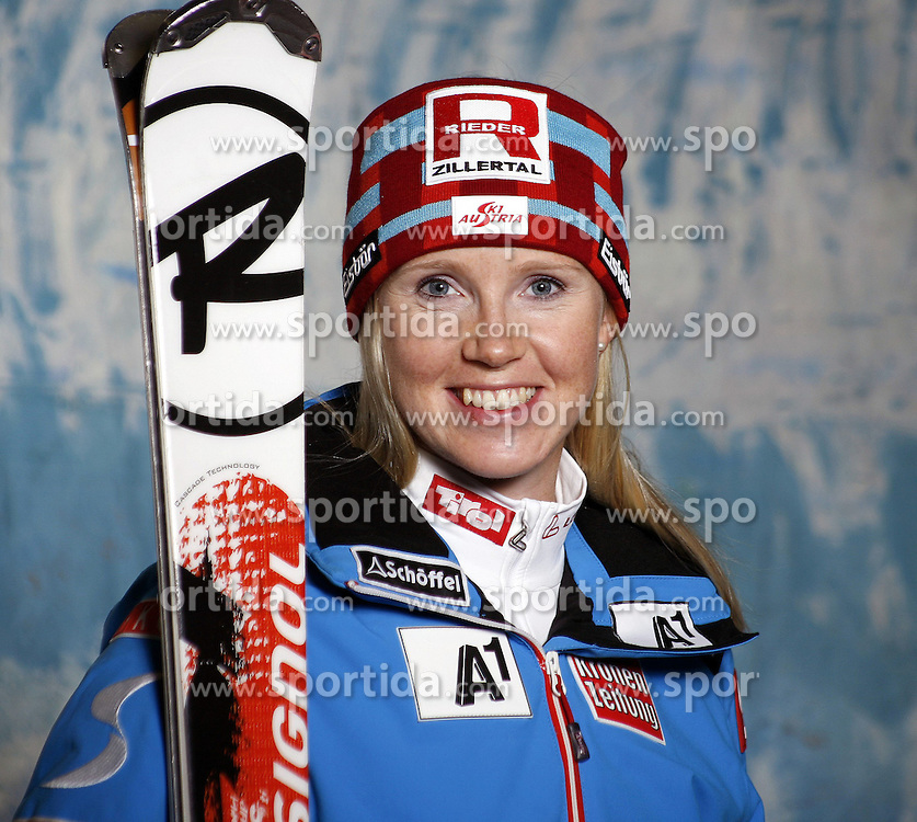 20.10.2012, Messehalle, Innsbruck, AUT, OeSV, Ski Alpin, Fototermin, im Bild Alexandra Daum (OeSV, Skirennlaeuferin) // during the official Portrait and Teamshooting of the Austrian Ski Federation (OeSV) at the Messehalle, Innsbruck, Austria on 2012/10/20. EXPA Pictures © 2012, PhotoCredit: EXPA/ OeSV/ Erich Spiess