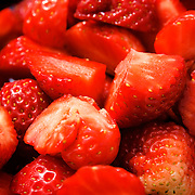 A summery feel with juicy strawberries.