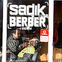 A barbershop in Inebolu.