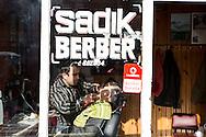 A barbershop in Inebolu.