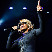 BRISTOW, VA - October 7th, 2010: R&B songstress Mary J. Blige wraps up the summer concert season at Jiffy Lube Live as part of her Music Saved My Life Tour. The concert was the last of the season at the amphitheater. (Photo by Kyle Gustafson/For The Washington Post)