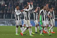 can - 28.02.2017 - Torino - Serie A 2016/17 - 11a giornata  -  Juventus-Napoli  nella  foto: L'esultanza dei giocatori della Juventus a fine partita