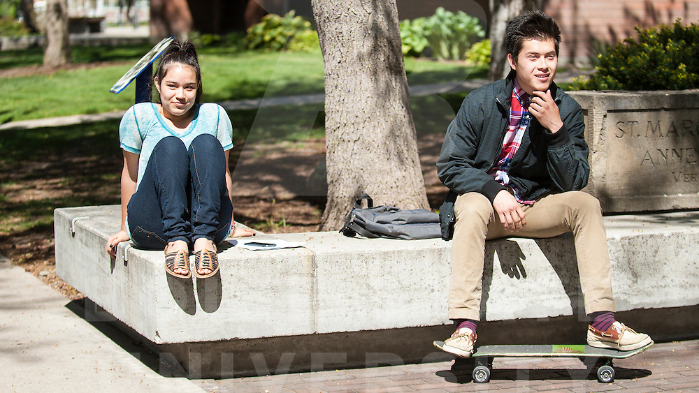 Campus Scene, Spring, Students, Tunnel of Oppresion,    Eric Torres Photos