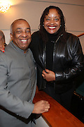 6 January 2011- Harlem, New York- l to r: Councilman Charles Baron and Dr. Deb Willis at the Opening for The State of African American and African Diaspora Studies Conference held at the The Schomburg Center for Research in Black Culture on January 6, 2011 in the Village of Harlem. Photo Credit Terrence Jennings