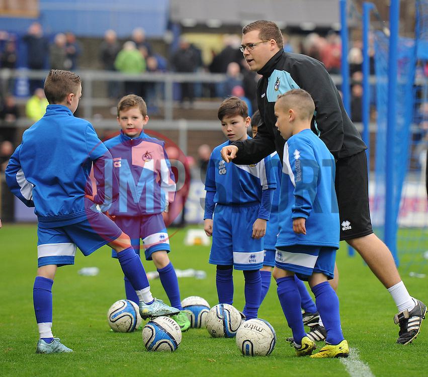 Bristol Rovers academy U9s  - Mandatory byline: Dougie Allward/JMP - 07966 386802 - 24/10/2015 - FOOTBALL - Memorial Stadium - Bristol, England - Bristol Rovers v Newport County AFC - Sky Bet League Two
