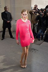 MAR 05 2013  Celebs at Chanel in Paris ready-to-wear fashion show
