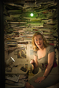 03/10/2012. London, UK. The Barbican's relationship with the National Theatre of Scotland continues with Enquirer, a site-specific work investigating the current crisis in newspaper journalism in the UK. The performance takes place at Mother at the Trampery in Clerkenwell.