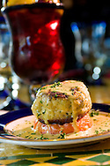 April 23, 2008; ORLANDO, FLORIDA --Crabcake. at  Ceviche Tapas Bar and Restaurant on Church Street....© 2008 Scott A. Miller