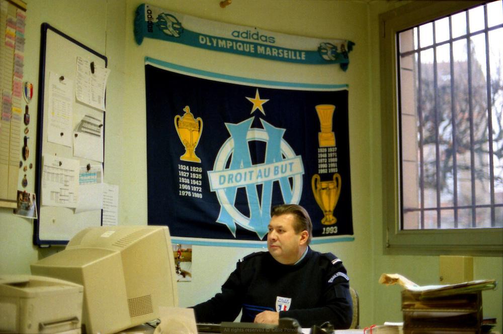 Bureau au commissariat de police de Corbeil-Essonnes.<br /> <br /> Office at Corbeil-Essonnes police station.