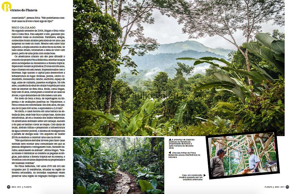 """""""Guardiões da floresta"""", published in Revista Planeta magazine, Brazil, May 2017"""